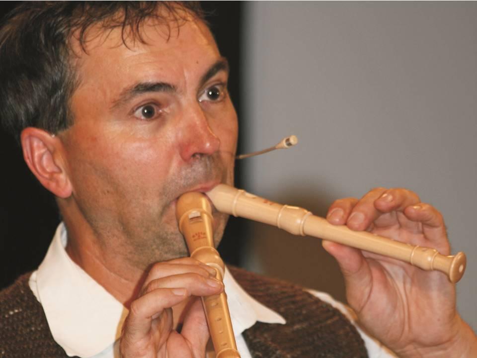 Foto-zwei Flöten